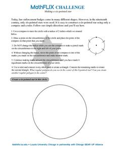 Making a Six-pointed Star Worksheet