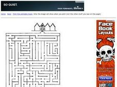 Maze From Park to Home Worksheet
