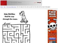 Old Blue Maze Worksheet