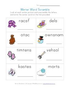 winter word scramble worksheet for 2nd 4th grade lesson planet. Black Bedroom Furniture Sets. Home Design Ideas