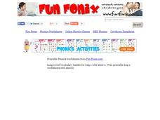 Fun Fonix: Say it. Write in the a and e. Read it. Worksheet