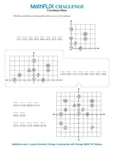 Countdown Challenge: Coordinate Plane Worksheet