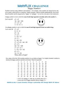 Countdown Challenge: Happy Numbers Worksheet