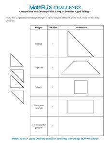 Isosceles Right Triangle Worksheet