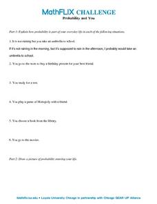 Countdown Challenge: Probability and You Worksheet