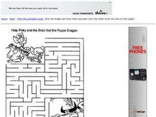 Pinky and the Brain Maze Worksheet