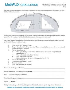 The Lickity-Split Ice Cream Stand Worksheet