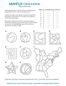 Many Colored Maps Worksheet