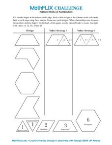 Pattern Blocks & Substitution Worksheet