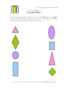 Sizes Worksheet: Tall and Short Worksheet