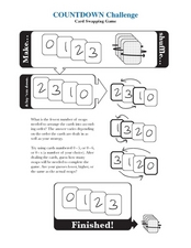 Card Swapping Game Worksheet