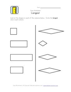 Sizes Worksheet: Longest Worksheet
