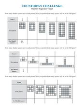Number Sequence: Visual Worksheet