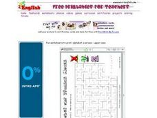 Alphabet and Phonics Maze Worksheet