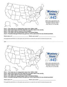 Mystery State #42 Worksheet