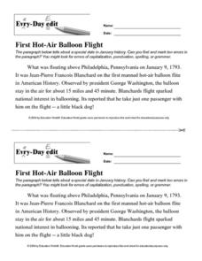 Every Day Edit - First Hot-Air Balloon Lesson Plan