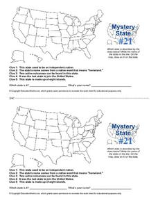 Mystery State #21 Worksheet