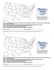Mystery State #27 Worksheet