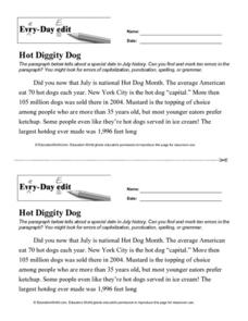 Every Day Edit - Hot Diggity Dog Lesson Plan