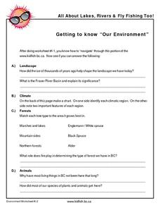 "Getting to Know ""Our Environment"" Worksheet"