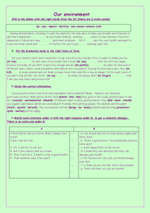 """Our Environment"" Worksheet"