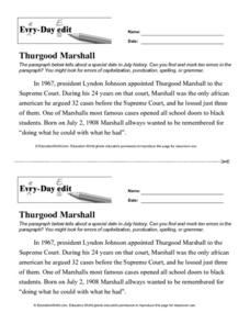 Every Day Edit - Thurgood Marshall Lesson Plan