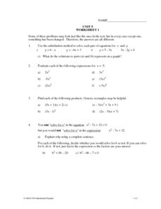 Unit 9 Review Worksheet