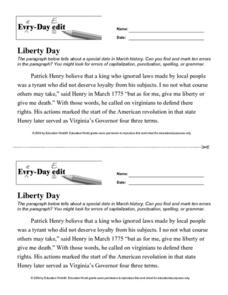 Every Day Edit - Liberty Day Lesson Plan