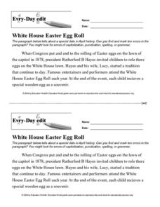 Every Day Edit - White House Easter Egg Roll Lesson Plan