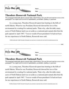 Every Day Edit - Theodore Roosevelt National Park Activities & Project