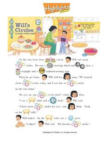 """Will's Circles"" by Georgann Philip Schultz Worksheet"