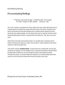 Communicating Feelings Lesson Plan