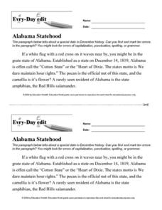 Every Day Edit - Alabama Statehood Lesson Plan
