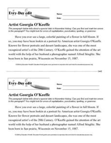 Every Day Edit - Artist Georgia O'Keeffe Lesson Plan
