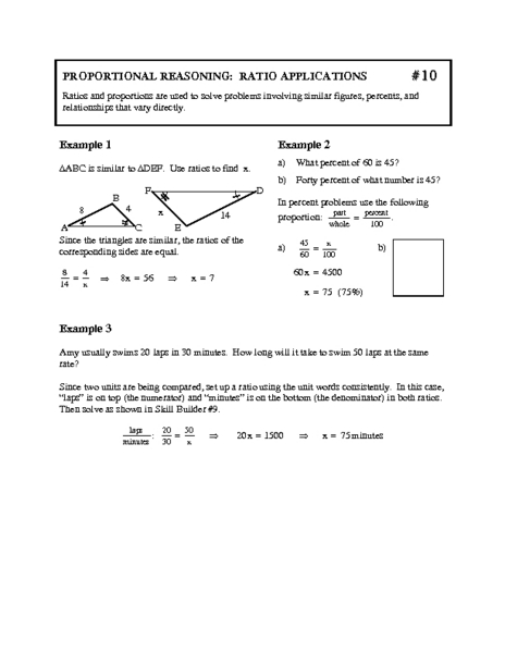 Proportional Reasoning Worksheets Worksheets For School ...