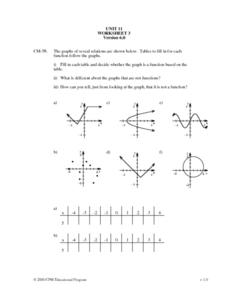 Unit 11 - Worksheet 3 - Function Worksheet