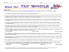 Hunt the Fact Monster Hunt #13 Worksheet