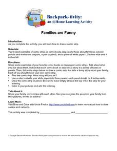 Families are Funny- Drawing a Comic Strip Worksheet