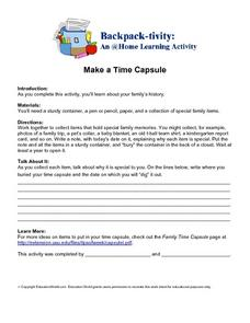 Make a Time Capsule Worksheet