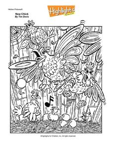 Highlights Hidden Pictures- New Chick Worksheet