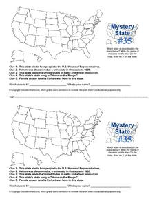 Mystery State #35 Worksheet