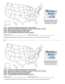 Mystery State #36 Worksheet