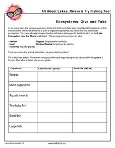 Ecosystems: Give and Take Graphic Organizer