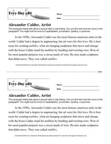 Every Day Edit - Alexander Calder, Artist Activities & Project
