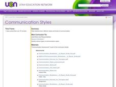 Communication Styles Lesson Plan
