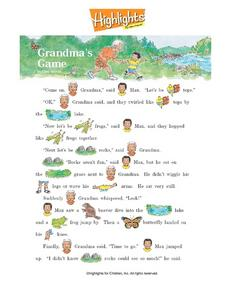 Highlights - Grandma's Game Worksheet