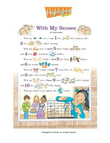 Highlights - With My Senses Worksheet