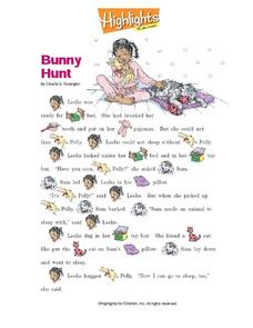"""Bunny Hunt"" by Claudia B. Remington Worksheet"