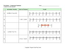 Comparing Notations Worksheet