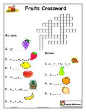 Fruits Crossword Lesson Plan